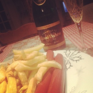 Champagne and chips
