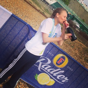 As promised... Cava at the finish line
